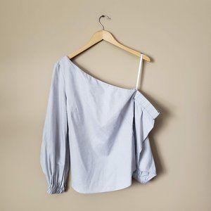 MILLY asymmetrical one shoulder shirt